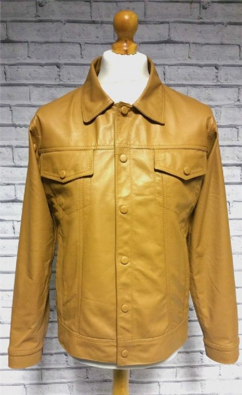 """Lomas"" Jacket in Light Tan Leather"